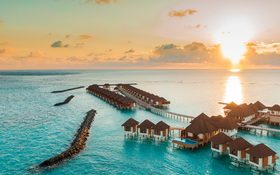 Stunning over-water bungalows in the Maldives