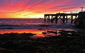 Sunrise at the Horseshoe Bay, South Australia wallpaper