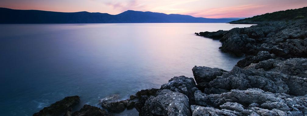 Sunrise on the Adriatic Sea in Premantura, Croatia