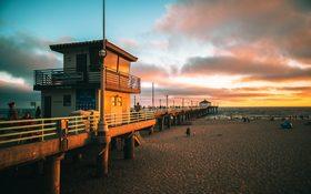 Sunset at the Manhattan Beach Pier
