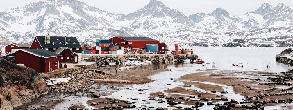 Tasiilaq harbour in East Greenland