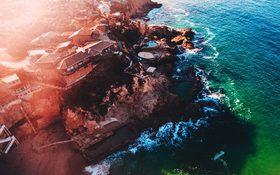 The beautiful sunset wallpaper of Laguna Beach, United States