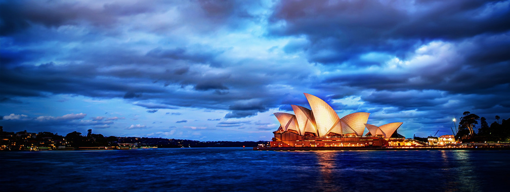 The beautiful wallpaper of the Opera House in Sydney