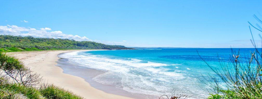 The peaceful wallpaper of calming beaches in Kioloa, Australia