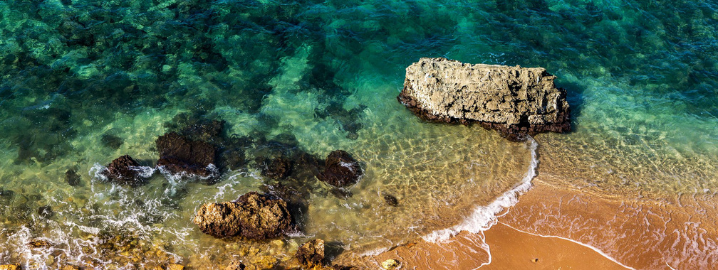 The quiet and relaxing beach at Herzliya, Israel