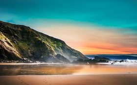 The stunning sunset wallpaper of Cornwall in the United Kingdom