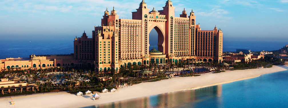 The wallpaper of Atlantis, majestic Dubai hotel situated on Palm Jumeirah