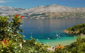 The wallpaper of beautiful Lovrečina beach in Croatia