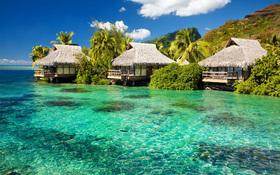 Tiki huts wallpaper
