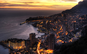 View from the hill on the Monaco wallpaper