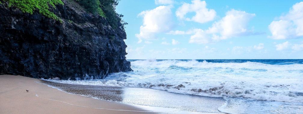 Virgin beach in the Kalalau Trail in Kauai, Hawaii