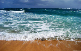 Windy Day Over The Ocean Beach Wallpaper