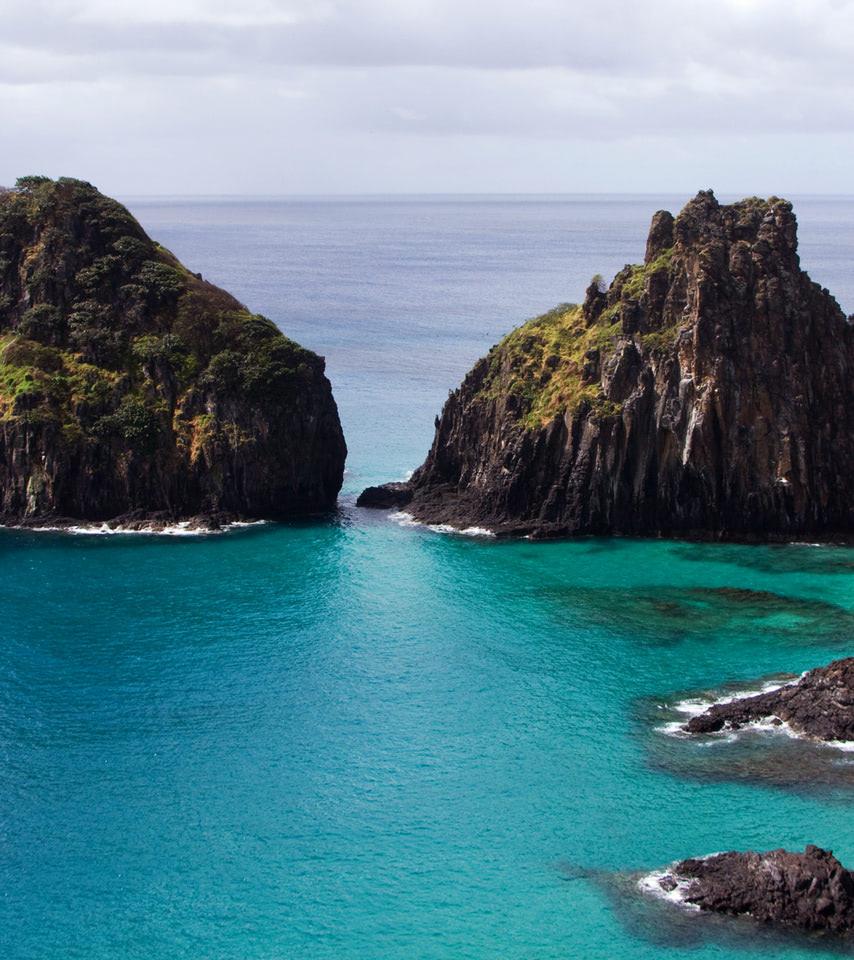Two Huge Rocks In Fernando De Noronha Archipelago Brasil