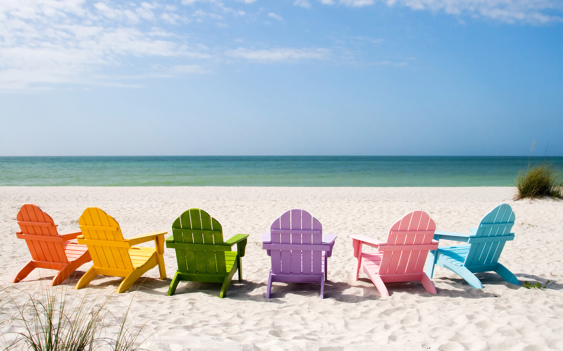 Delightful benches at the beach wallpaper - Beach Wallpapers