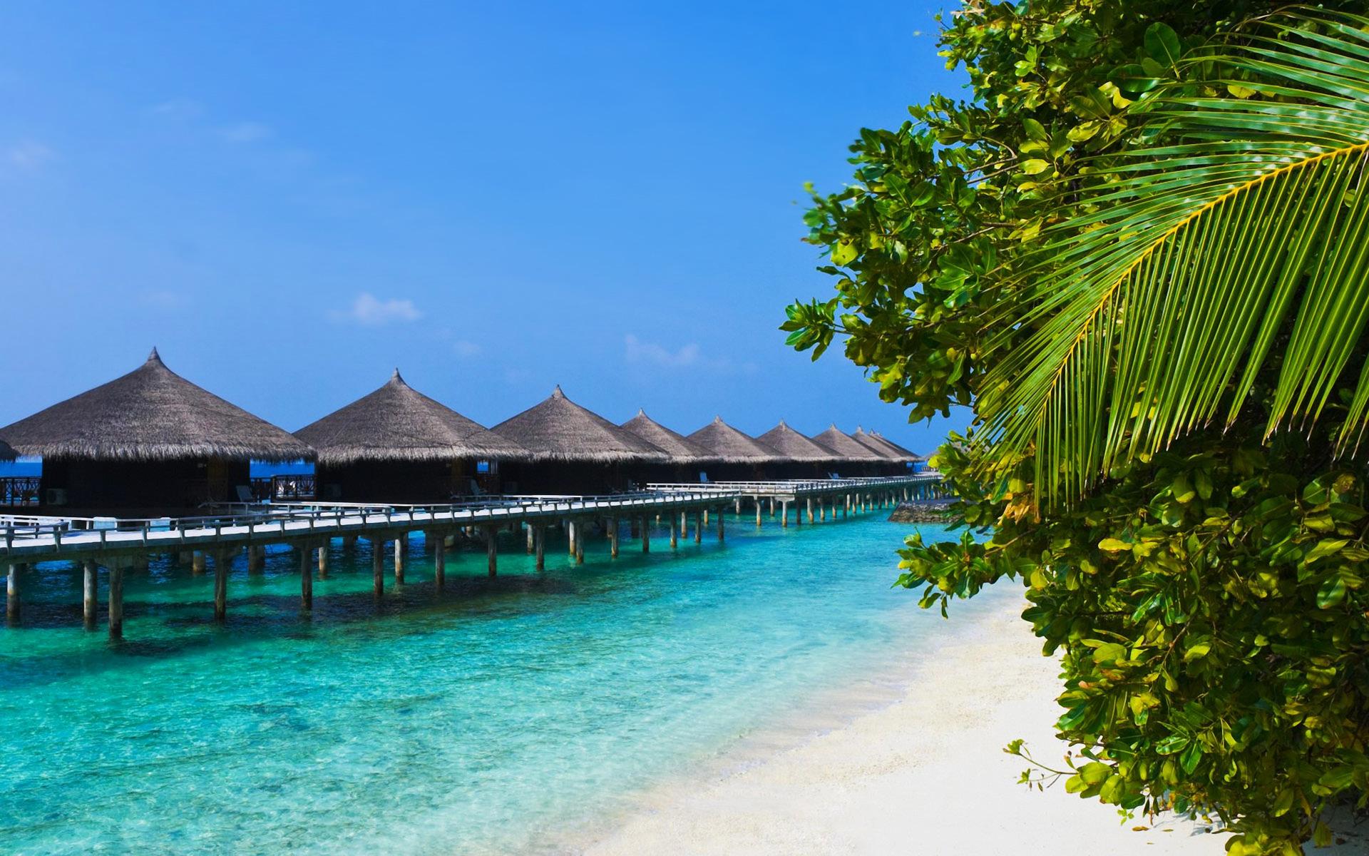 Stunning tropical beach bungalows - Beach Wallpapers - photo#26