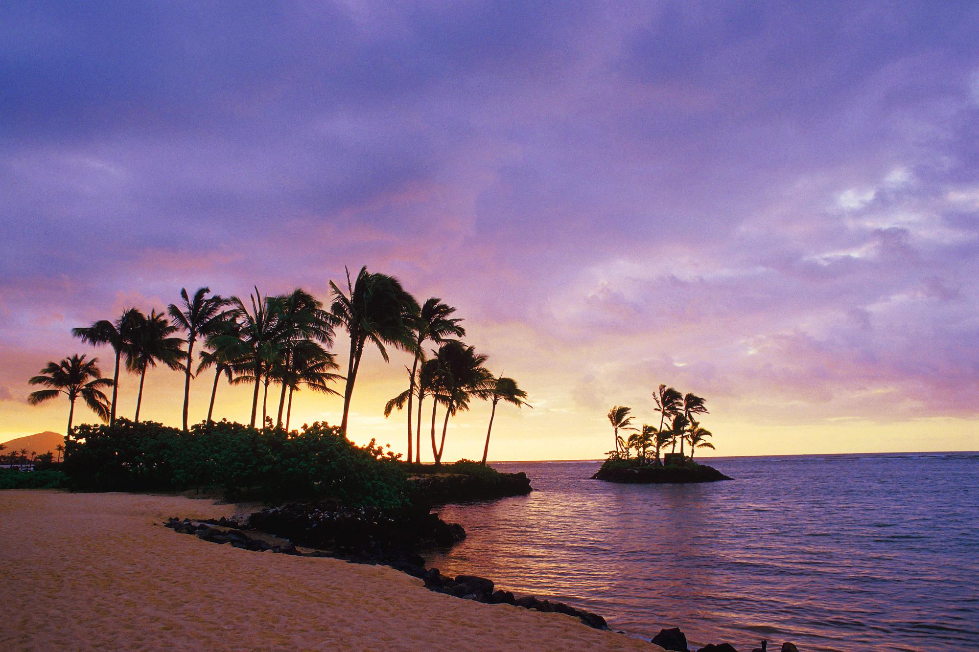 The inspiring wallpaper of the Wai alae Beach Honolulu Hawaii